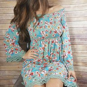 Boho Style Xhilaration Floral Print Dress